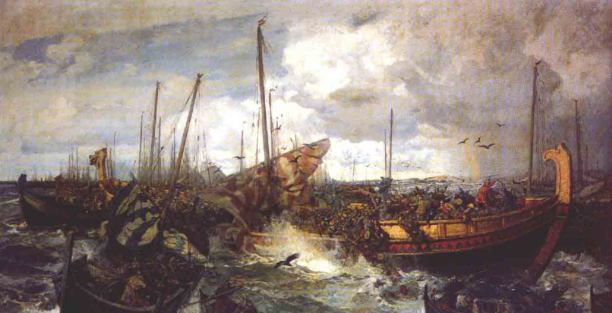 Viking Battle Painting Battle of Svolder  by Otto