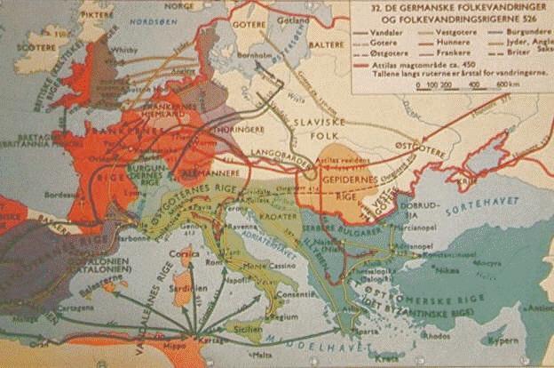 kart om europa EUROPEISKE VANDRINGER kart om europa